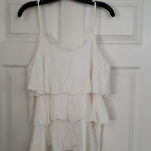CACIQUE Sleepwear White Ruffled short set